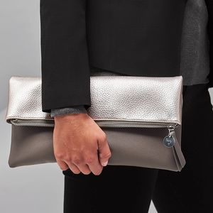 Personalised Fold Over Clutch - women's accessories