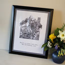 Personalised Map Home Framed Print