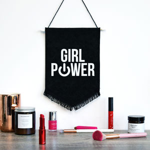 'Girl Power' Wall Flag