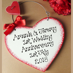 Personalised 1st Anniversary Sign - signs