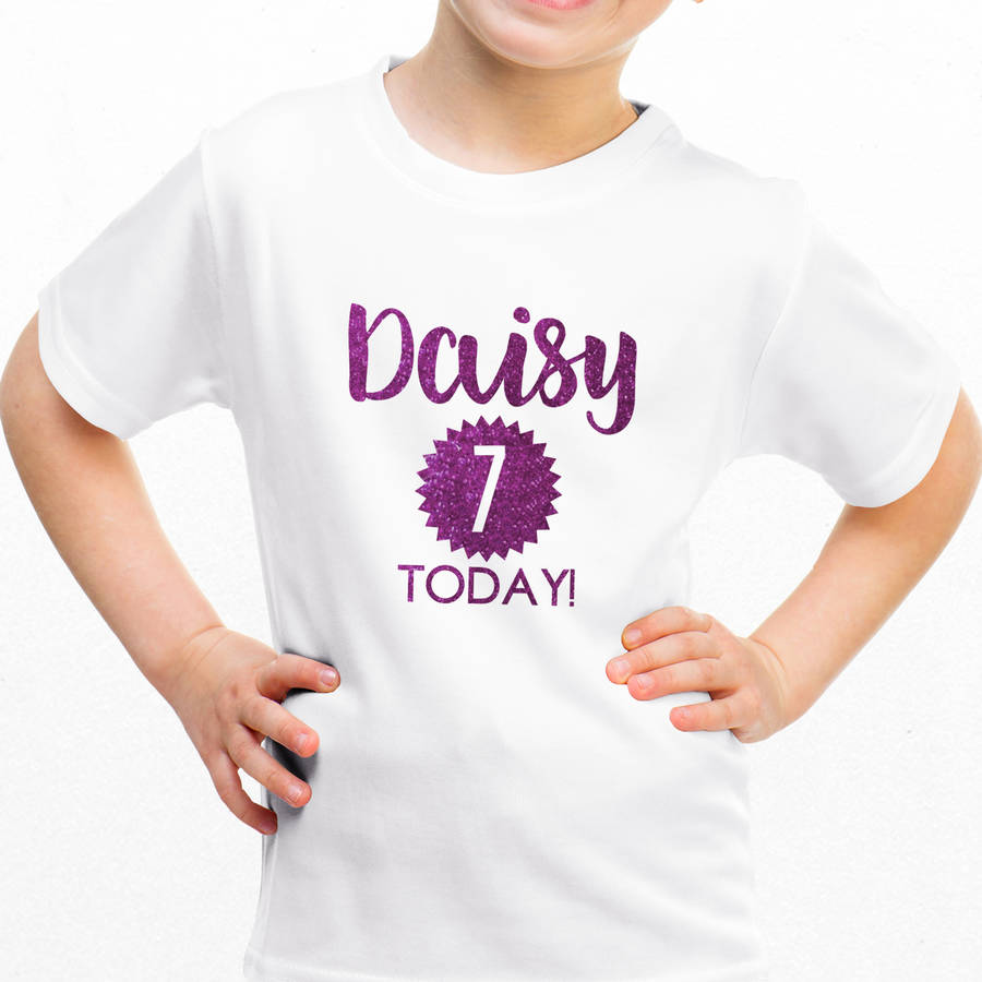 a357a7b06 personalised children's birthday glitter t shirt by sarah hurley ...