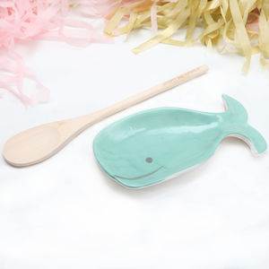 Ceramic Might As Whale Spoon Rest And Spoon - kitchen