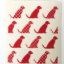 Red labrador dogs dishcloth