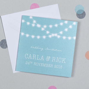 Love Lights Wedding Invitation - invitations