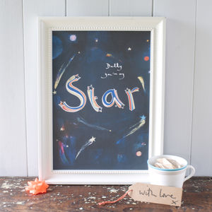 Daddy You're My Star Print For A Dad