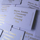 Gold Hot Foil On Lavender Save The Date Cards