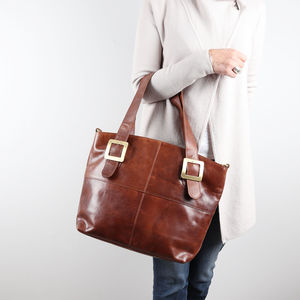 Ashton Leather Buckle Tote