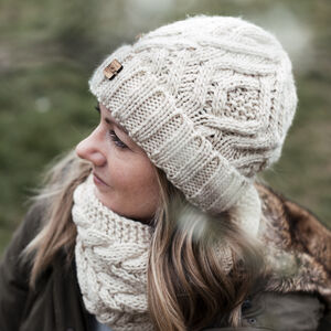 Crochet Hat And Snood Set