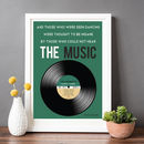 Personalised Family Songs Vinyl Print