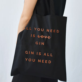 'All You Need Is Gin' Christmas Tote Bag