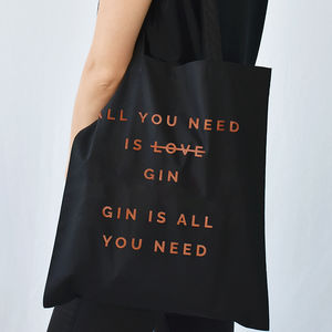 'All You Need Is Gin' Christmas Tote Bag - our favourite gin gifts