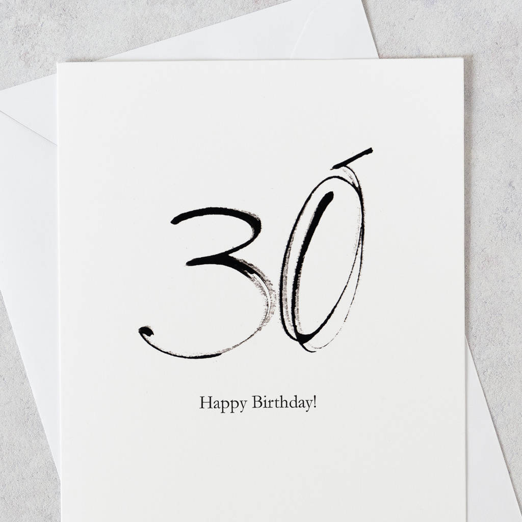 30th Birthday Card 30 Happy By Gabrielle Izen