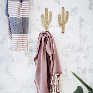 Gold Cactus Hook - bedroom
