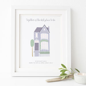 Personalised Home Print - housewarming gifts