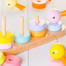 Childrens Personalised Wooden Stacking Ducks