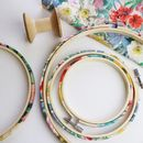 Floral Embroidery Hoop Frame. Liberty Print