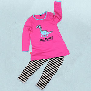 Personalised Dinosaur Tunic And Leggings Set - summer sale