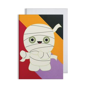 Halloween Mummy Glow In The Dark Card