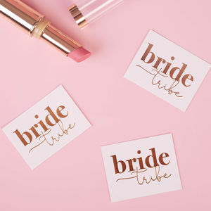 Bride Tribe Gold Hen Party Tattoos