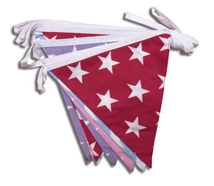Stars Cotton Bunting - bunting & garlands
