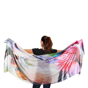 Womens Printed Cashmere Silk Scarf, Duck - our top summer scarves
