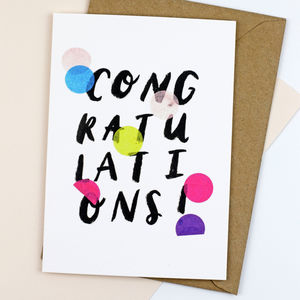 'Congratulations' Confetti Card