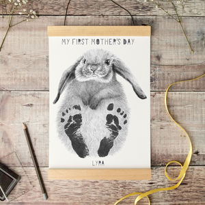 My First Mother's Day Baby Footprinting Kit - nursery pictures & prints