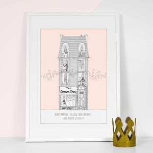 Personalised 'The Dream Shop' Girls Print