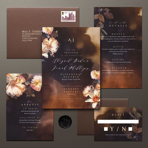 Ethereal Floral Wedding Invitation Suite