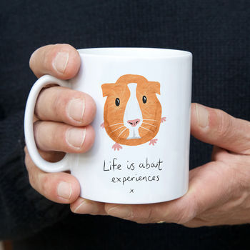 LIFE IS ABOUT EXPERIENCES GUINEA PIG MUG