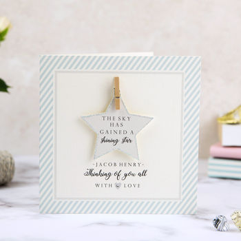 The Star Has Gained A Shining Star Sympathy Card