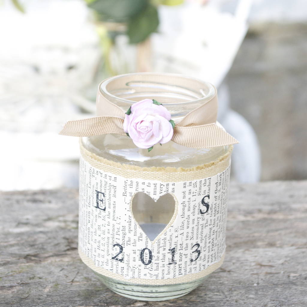 personalised recycled jam jar candle holders by abigail bryans ...