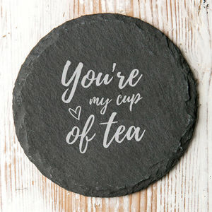 Youre My Cup Of Tea Cute Quote Coaster Gift For Couples