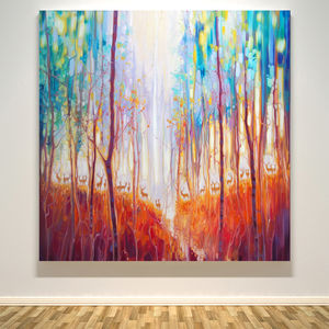 Forest Souls … An Autumn Forest With Deer - paintings