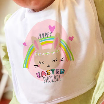 First Easter Gift For Baby Bib 'Rainbow'