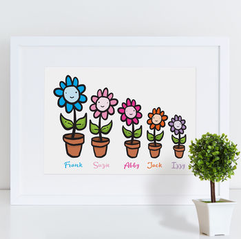 Personalised Flower Print