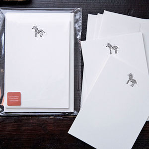 Letterpress Note Card Set