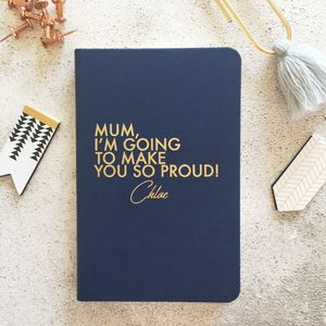 Personalised Proud Dad/Mum Notebook