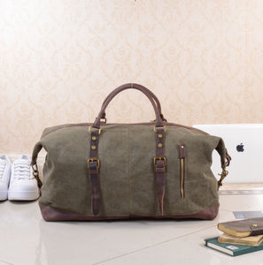 Canvas Classic Travel Holdall Bag