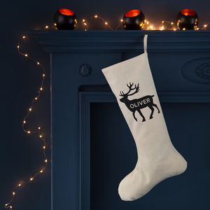 Personalised Reindeer Christmas Stocking - stockings & sacks