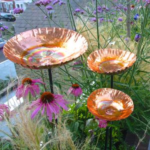Copper Chalice Set Of Three Save £20 - bird feeders