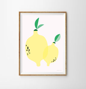 Lemon Children's Print - what's new