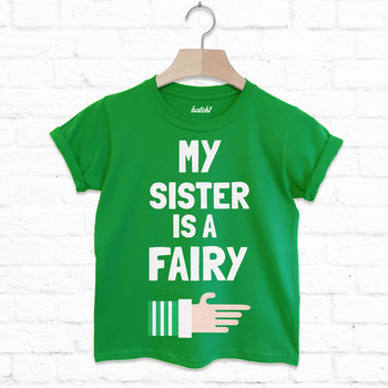 My Sister Is A Fairy Children's Christmas T Shirt