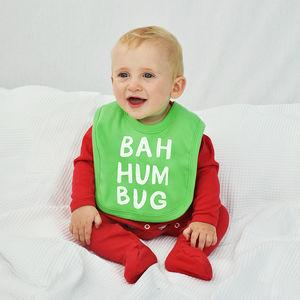 'Bah Humbug' Baby Christmas Bib - baby & child sale