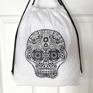 Drawstring Bag To Colour In With Skull - children's accessories