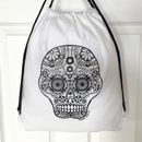 Drawstring Bag To Colour In With Skull
