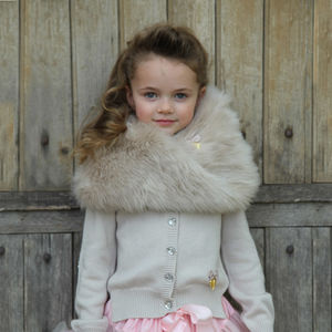 Chunky Faux Fur Snood - new in baby & child