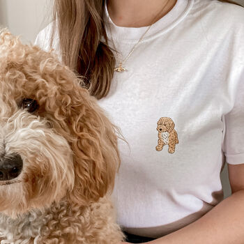 Bespoke Pet Portrait Cotton T Shirt