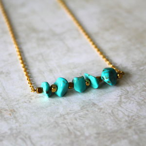 Children's Semi Precious Stone Bar Necklace
