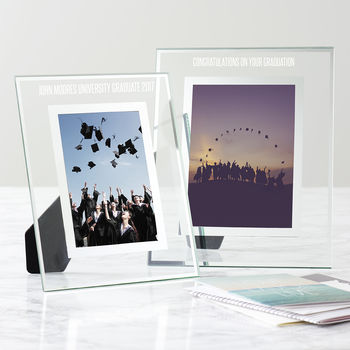Personalised Glass Edged Graduation Frame